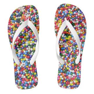 Rainbow sprinkles thongs