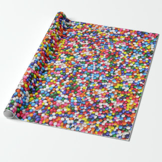 Rainbow sprinkles wrapping paper