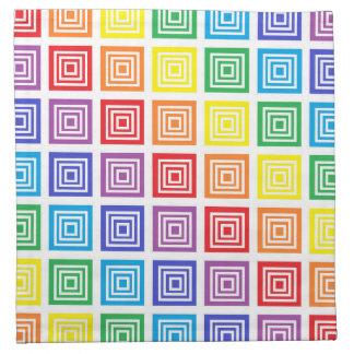 Rainbow Squared Napkin
