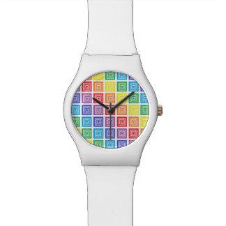 Rainbow Squared Watch