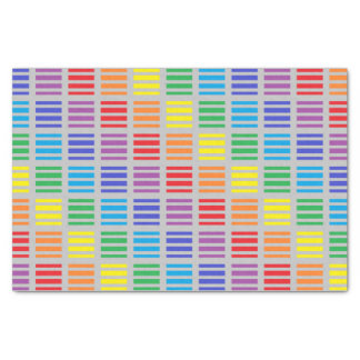 Rainbow Squares and Stripes Silver Tissue Paper