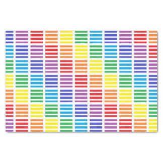 Rainbow Squares and Stripes Tissue Paper