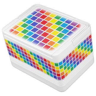 Rainbow Squares Cooler