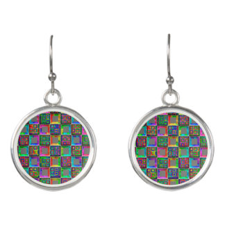 Rainbow Squares Fashion Earrings by Julie Everhart
