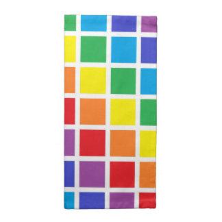 Rainbow Squares Napkin