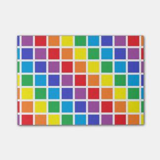 Rainbow Squares Post-it® Notes