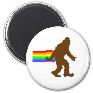 Rainbow Squatch 6 Cm Round Magnet