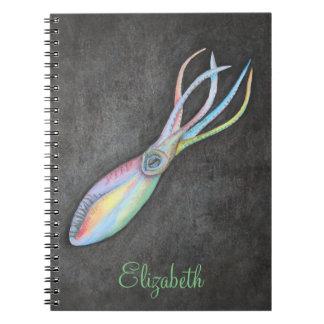 Rainbow Squid Notebook