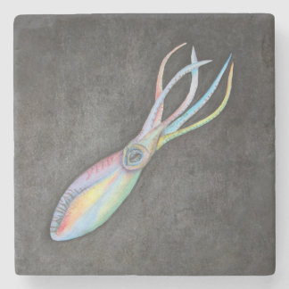 Rainbow Squid Stone Coaster
