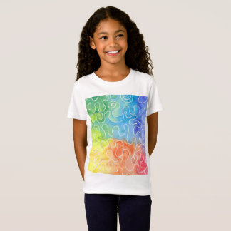 Rainbow Squiggle Watercolour T-Shirt