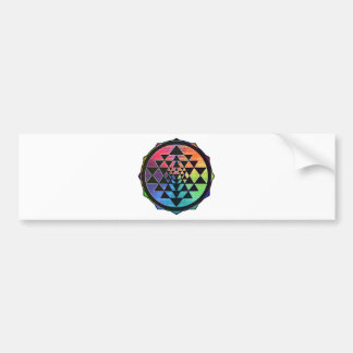 Rainbow Sri Yantra for Prosperity & Love Bumper Sticker