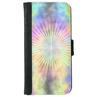Rainbow Star Burst Horizon iPhone 6 Wallet Case