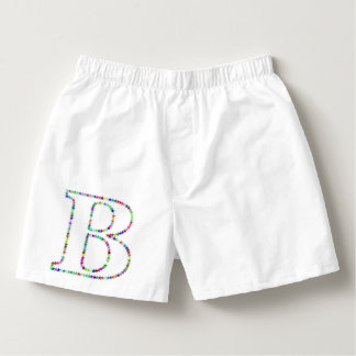 Rainbow Star Letter B Boxers