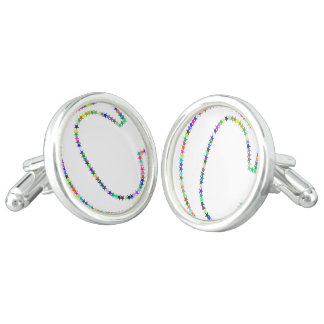 Rainbow Star Letter C Cuff Links