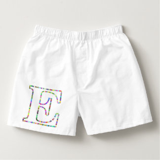 Rainbow Star Letter E Boxers