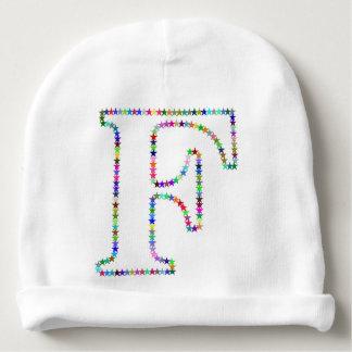 Rainbow Star Letter F Baby Beanie