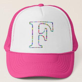 Rainbow Star Letter F Trucker Hat