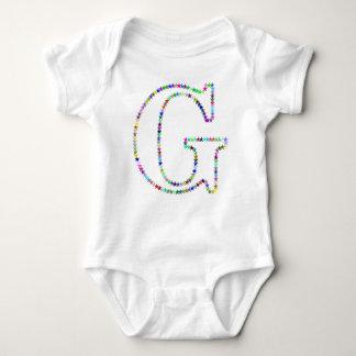 Rainbow Star Letter G Baby Bodysuit