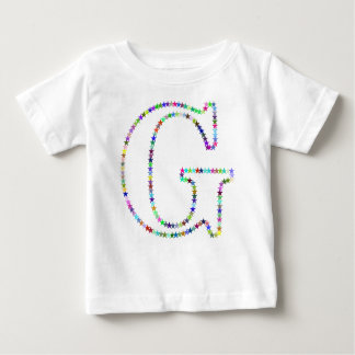 Rainbow Star Letter G Baby T-Shirt