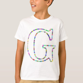 Rainbow Star Letter G T-Shirt