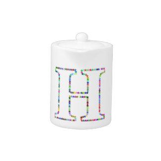 Rainbow Star Letter H