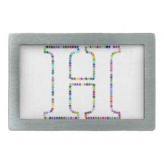 Rainbow Star Letter H Belt Buckle