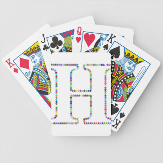 Rainbow Star Letter H Bicycle Playing Cards