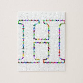 Rainbow Star Letter H Jigsaw Puzzle