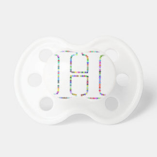 Rainbow Star Letter H Pacifiers