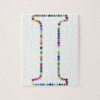 Rainbow Star Letter I Jigsaw Puzzle