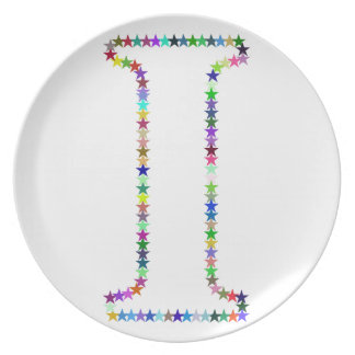 Rainbow Star Letter I Plate