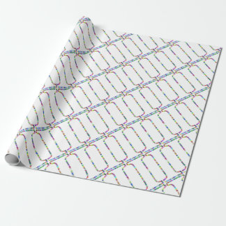 Rainbow Star Letter I Wrapping Paper
