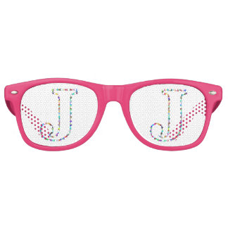 Rainbow Star Letter J Retro Sunglasses