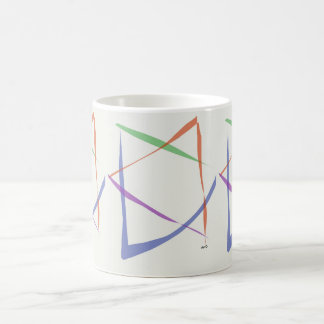 Rainbow Star of David Mug