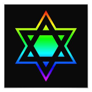 Rainbow Star of David Photo