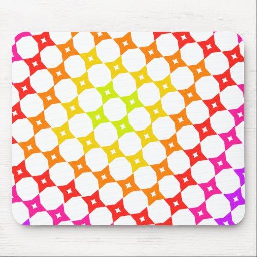 Rainbow star on a grid mousepad