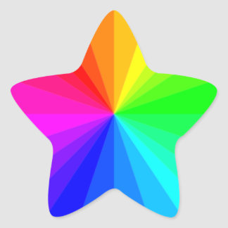 Rainbow Star Sticker