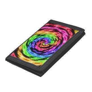Rainbow Star Vortex nylon wallet