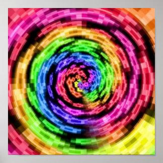 Rainbow Star Vortex Poster