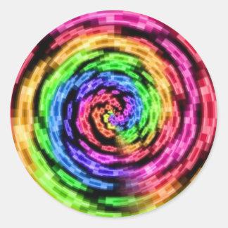 Rainbow Star Vortex Sticker Sheets