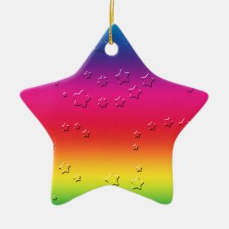Rainbow Stars Ceramic Star Decoration
