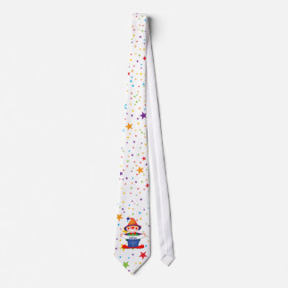 rainbow stars clown tie