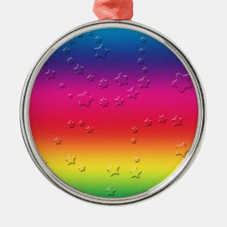 Rainbow Stars Christmas Ornaments