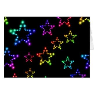Rainbow Stars Pattern Note Card