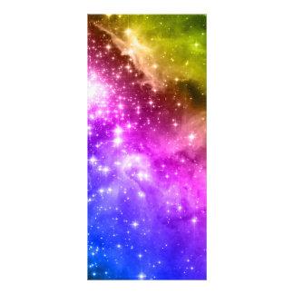 Rainbow Stars Personalised Rack Card
