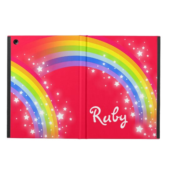 Rainbow stars red sky name case