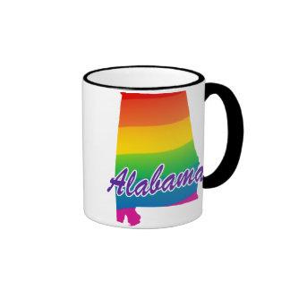 Rainbow State Of Alabama Ringer Mug