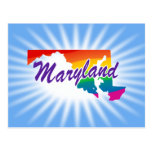 Rainbow State Of Maryland Postcards