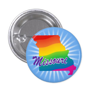 Rainbow State Of Missouri 3 Cm Round Badge