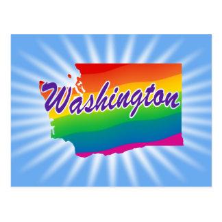 Rainbow State Of Washington Postcard